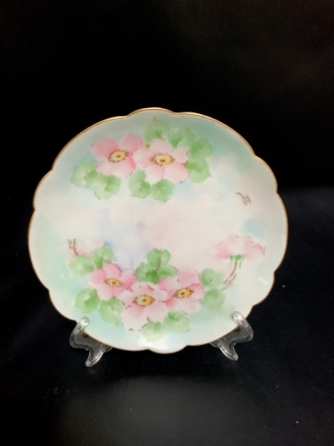 P&P 리모지 핸드페인트 스몰 플레이트  P and P Limoges Hand Painted Small Plate circa 1919