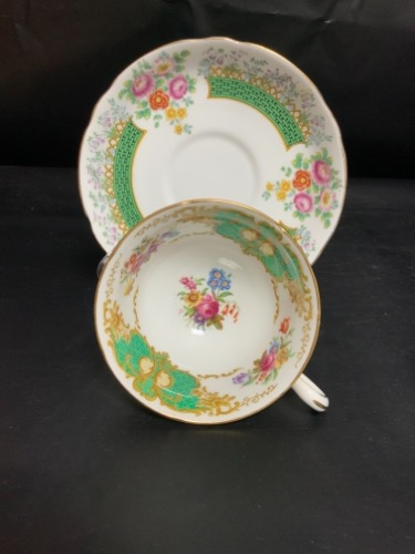 "코펠랜드 ""Chatsworth"" 컵&소서-크레이징- Copelands ""Chatsworth"" Cup & Saucer - crazing - AS IS"