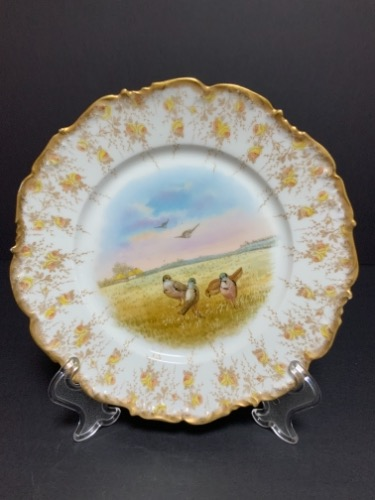 Tressmane & Vogt 리모지 장식 버드 플레이트 Tressmane & Vogt Decorative Bird Plate